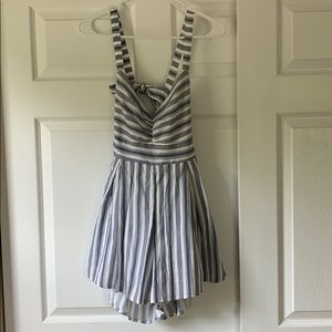 L'Atiste by Amy Blue/White striped romper, Size M